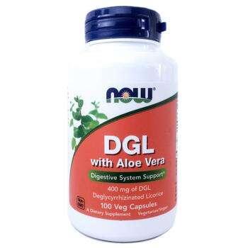 Купить DGL with Aloe Vera 400 mg 100 Veg Capsules (Корінь солодки DGL...