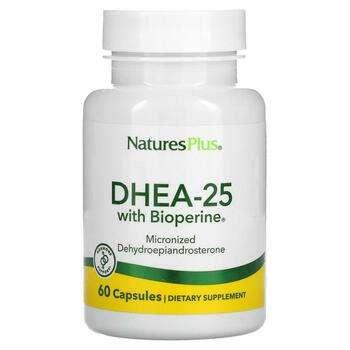 Купить DHEA-25 With Bioperine 60 Vegetarian Capsules (Nature's Pl...