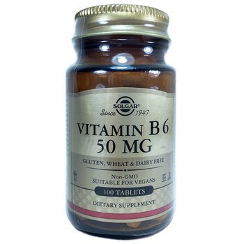 Купить Solgar Vitamin B6 50 mg 100 Tablets
