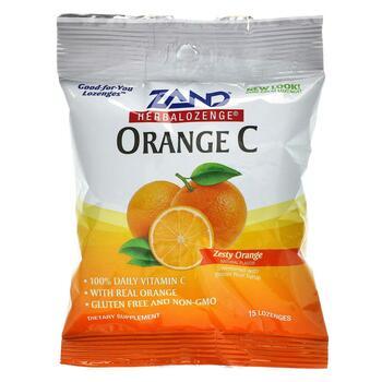 Купить Zand Orange C Herbalozenge Zesty Orange 15 Lozenges