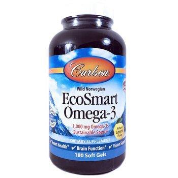 Купить EcoSmart Omega-3 Natural Lemon Flavor 1000 mg 180 Soft Gels