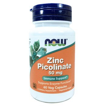 Купить Now Foods Zinc Picolinate 50 mg 60 Veg Capsules