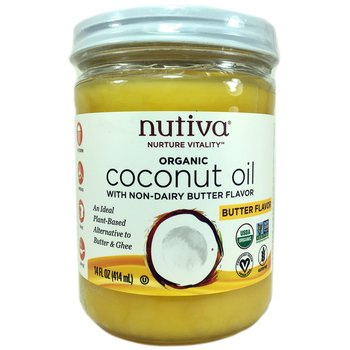 Купить Nutiva Organic Coconut Oil Buttery Flavor 414 ml