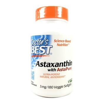 Купить Astaxanthin With AstaPure 3 mg 180 Veggie Softgels ( Астаксант...