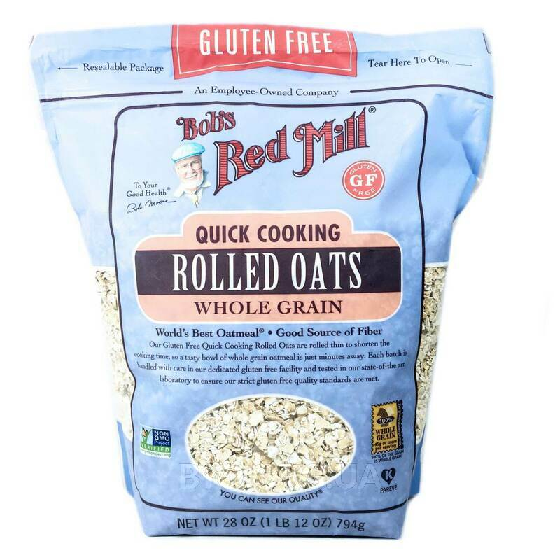 Bob's Red Mill Quick Cooking Rolled Oats Whole Grain Gluten Free 794 g