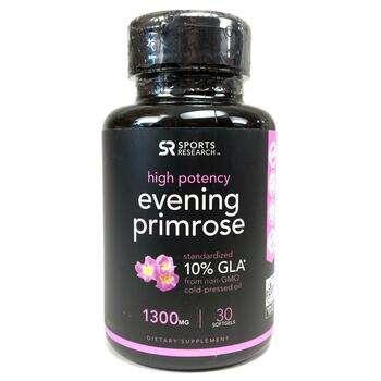 Купить Sports Research Evening Primrose Oil 1300 mg 30 Softgels