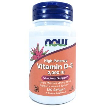 Купить Now Foods Vitamin D-3 2000 IU 120 Softgels