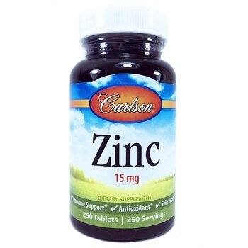Купить Carlson Labs Zinc 15 mg 250 Tablets
