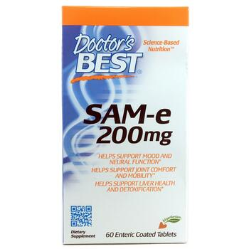Купить Doctor's Best SAM-e 200 mg 60 Enteric Coated Tablets