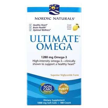 Купить Nordic Naturals Ultimate Omega 3 1280 mg Lemon Flavor 180 Soft...