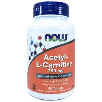 Купить Now Foods Acetyl-L Carnitine 750 mg 90 Tablets