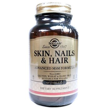 Купить Solgar Skin Nails Hair Advanced MSM Formula 60 Tablets