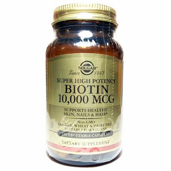 Купить Solgar Biotin Super High Potency 10000 mcg 120 Vegetable Capsules