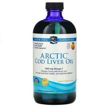 Купить Nordic Naturals Arctic Cod Liver Oil Orange Flavor 437 ml