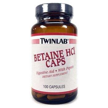 Купить Twinlab Betaine HCL Caps 100 Capsules