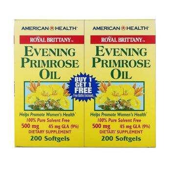 Купить American Health Royal Brittany Evening Primrose Oil 500 mg 2 B...