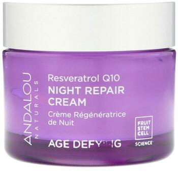 Купить Night Repair Cream Resveratrol Q10 Age Defying 50 g (Андалу Не...