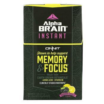 Купить Onnit AlphaBRAIN Instant Memory & Focus Blackberry Lemonade Fl...