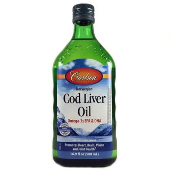 Купить Carlson Labs Norwegian Cod Liver Oil Unflavored 500 ml