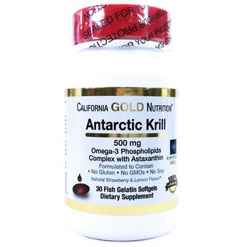 Купить California Gold Nutrition Antarctic Krill Oil with Astaxanthin...