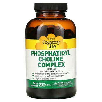 Купить Country Life Phosphatidyl Choline Complex 1200 mg 200 Softgels