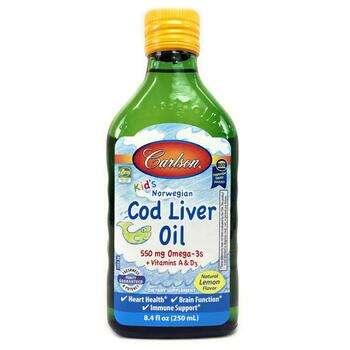Купить Carlson Labs Kids Norwegian Cod Liver Oil Natural Lemon Flavor...