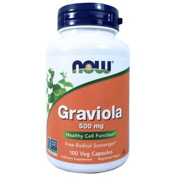 Купить Now Foods Graviola 500 mg 100 Veg Capsules