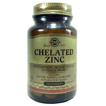 Купить Solgar Chelated Zinc 22 mg 100 Tablets