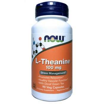 Купить Now Foods L-Theanine 100 mg 90 Veg Capsules