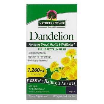 Купить Natures Answer Dandelion 1260 mg 90 Veggie Caps