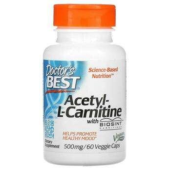 Купить Doctor's Best Acetyl-L-Carnitine with Biosint Carnitines 500 m...