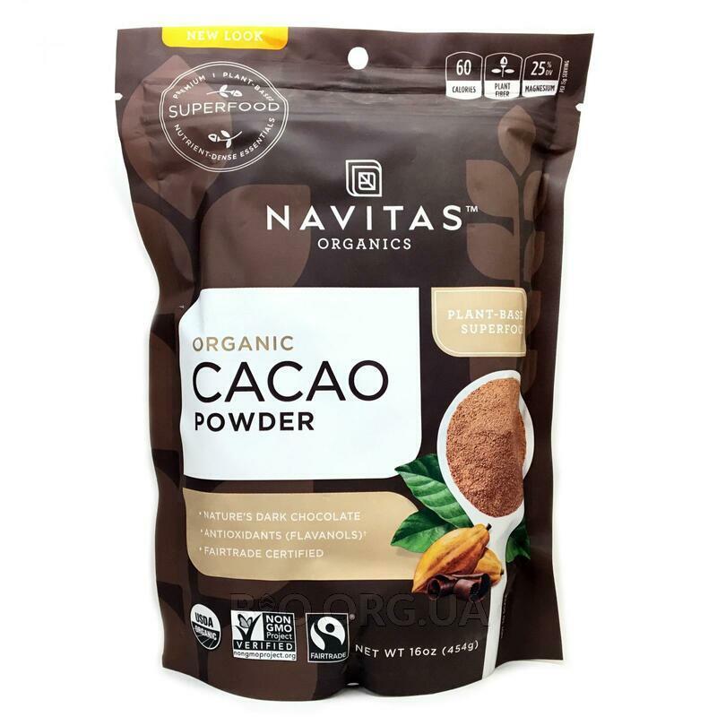 Органический какао порошок 454 г фото товара