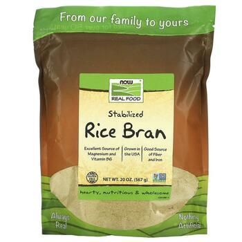 Купить Now Foods Real Food Stabilized Rice Bran 567 g