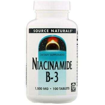 Купить Source Naturals Niacinamide B-3 Timed Release 1500 mg 100 Tablets
