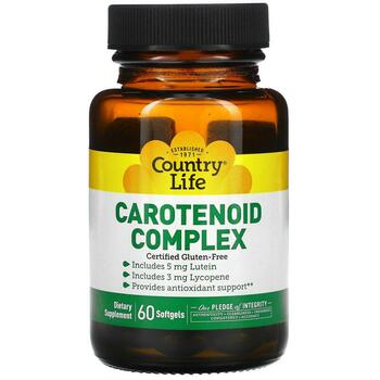Купить Country Life Carotenoid Complex 60 Softgels