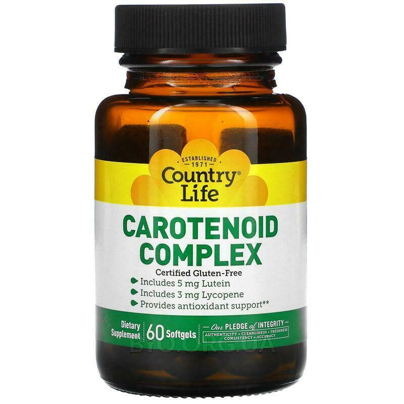 Комплекс каротиноидов 60 гелевых капсул фото товара