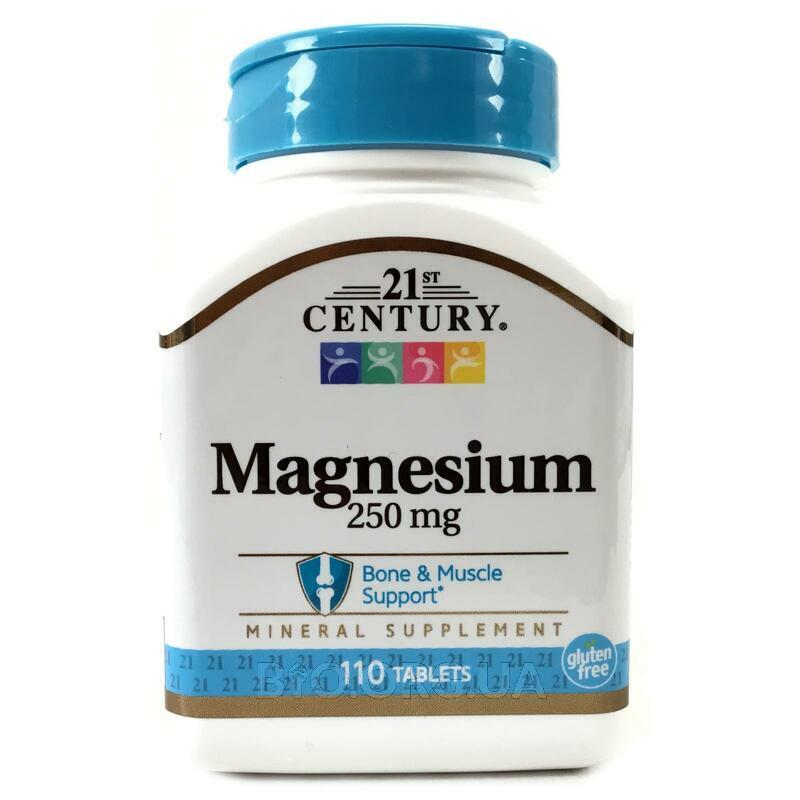 21st Century Health Care Magnesium 250 mg 110 Tablets