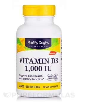 Купить Vitamin D3 1000 IU 360 Softgels