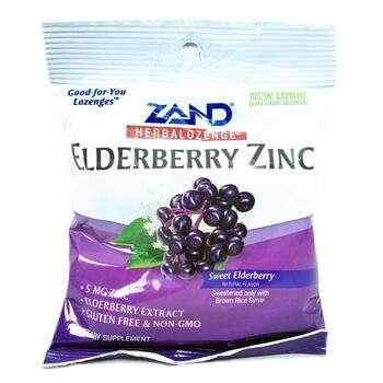 Купить Elderberry Zinc Herbal Lozenge Sweet Elderberry 15 Lozenges (Б...