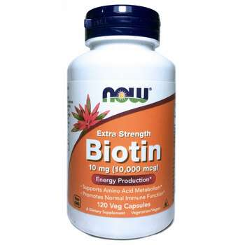 Купить Now Foods Biotin 10000 mcg 120 Veg Capsules