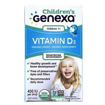Купить Children's Vitamin D3 Children 1+ Organic Vanilla Flavor 400 I...