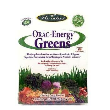 Купить Paradise Herbs ORAC Energy Greens 15 Packets 6 g Each