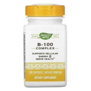 Купить B-100 Complex with B2 Coenzyme 100 Capsules (Комплекс Nature&#...
