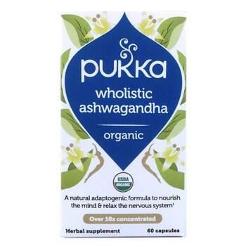Купить Pukka Herbs Wholistic Ashwagandha Organic 60 Capsules