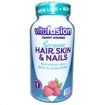Купить Gorgeous Hair Skin Nails Multivitamin Natural Raspberry Flavor...