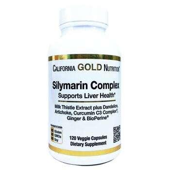 Купить California Gold Nutrition Silymarin Complex Liver Health 300 m...