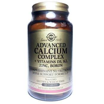 Купить Solgar Advanced Calcium Complex Vitamins D3 K2 Zinc Boron 120 ...