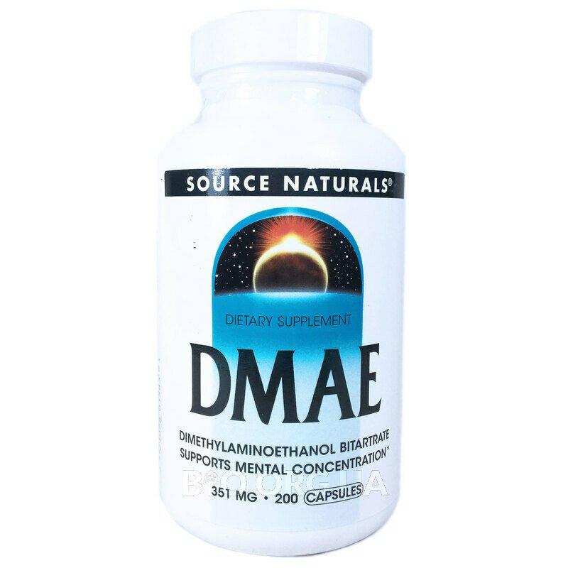 ДMAE 351 мг 200 капсул фото товара