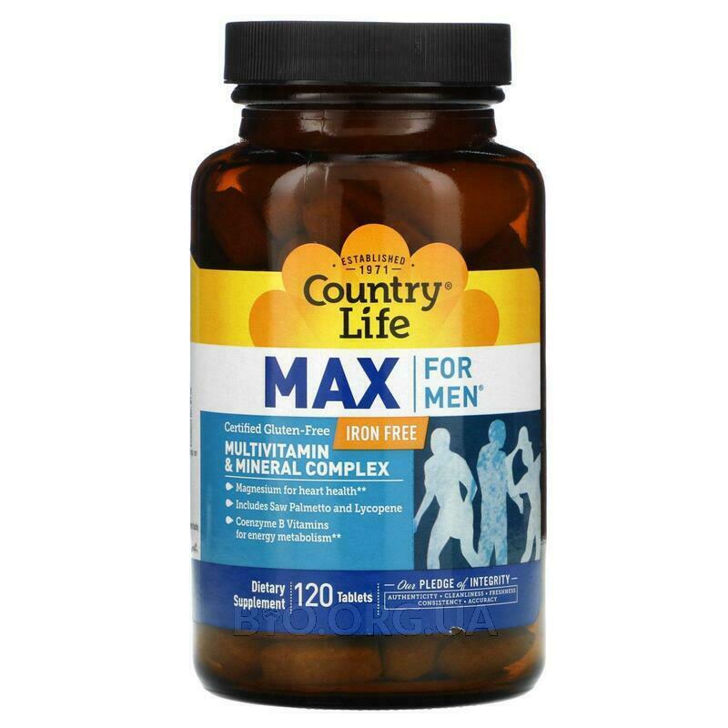 Мультивитаминный и минеральный комплекс для мужчин без железа ... фото товара