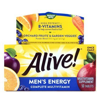 Купить Nature's Way Alive Mens Energy Multivitamin Multimineral 50 Ta...